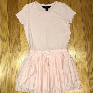 Ralph Lauren girls pink pleated polo dress, 7